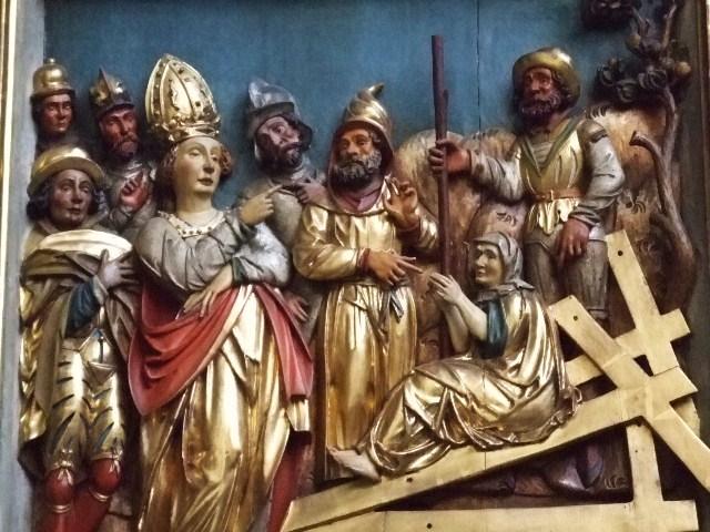 Определение Истинного Креста (немецкая деревянная скульптура)