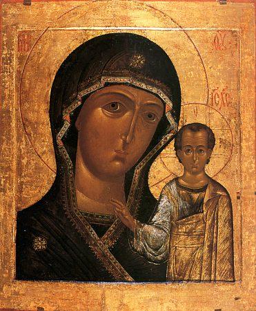 Явление иконы Пресвятой Богородицы в Казани.